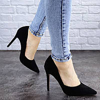 Женские черные туфли на шпильке Alaska 2040 (37 размер), фото 1