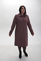 Пальто женское кашемировое -Л-612 пудра, фото 1