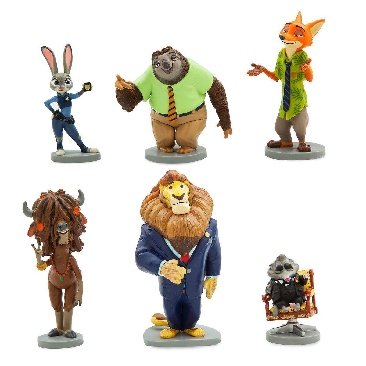 Disney Store Игровой набор с фигурками Зверополис Zootopia Exclusive 6-Piece PVC Figure Play Set