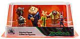 Disney Store Игровой набор с фигурками Зверополис Zootopia Exclusive 6-Piece PVC Figure Play Set, фото 2