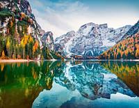 Картина для рисования по номерам, красочный пейзаж, горы 50х40 см.