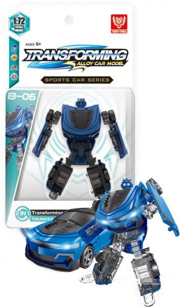 Трансформер металлический Blue Thunder B-06 9 см. TomyTaku BB990-A2