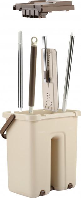 Швабра-лентяйка с ведром и автоматическим отжимом комплект для уборки Asotv Scratch Cleaning Mop