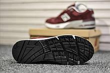 """Кроссовки New Balance 991 Suede """"Бордовые"""", фото 3"""