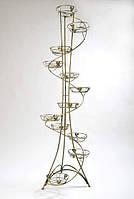Подставки  кованые для цветов,башня спираль 12