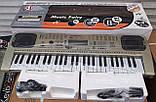 Детский орган синтезатор пианино MQ 807 USB mp3, микрофон, 54 клавиши, от сети, фото 6