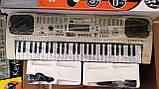 Детский орган синтезатор пианино MQ 807 USB mp3, микрофон, 54 клавиши, от сети, фото 8