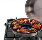 Сковорода гриль-газ Benson BN-801 с эмалированным покрытием | сковородка для гриля на газу эмаль Бенсон, фото 6
