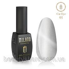 ⭐Гель-лак Milano 24D 8 ml №01 Crystal 2020⭐