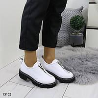 Женские туфли ботиночки белого цвета 36,37 р, фото 1