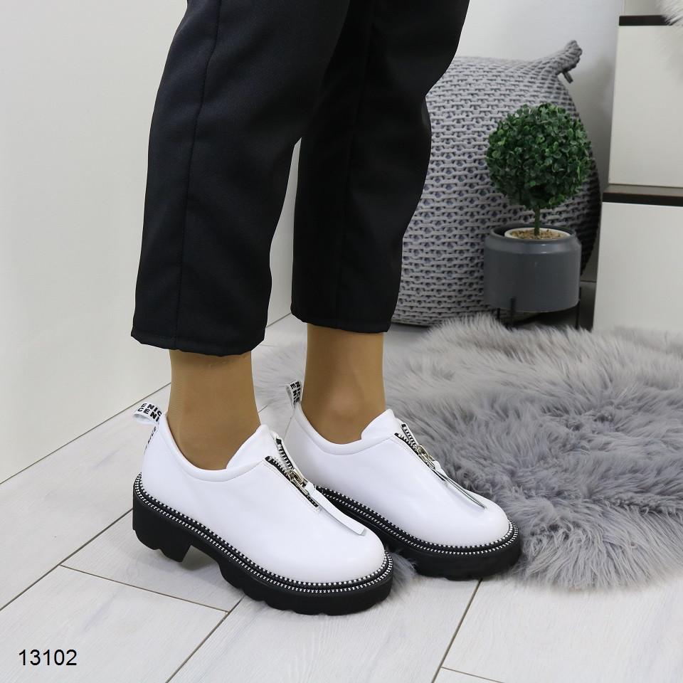 Женские туфли ботиночки белого цвета 36,37 р