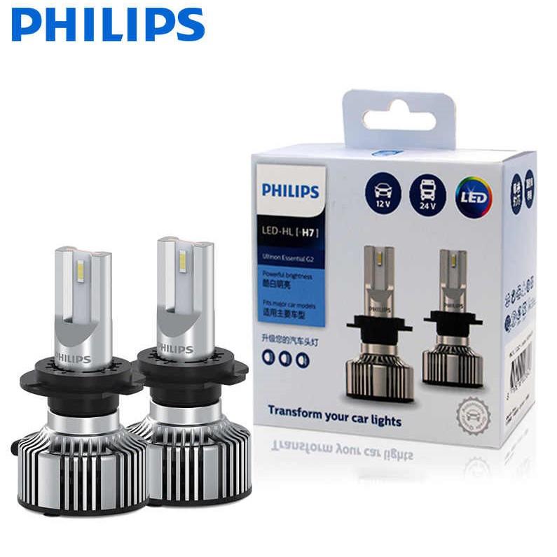 Комплект диодных ламп PHILIPS 11972UE2X2 H7 20W 12-24V Ultinon Essential G2 6500K