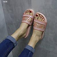 Жіночі шльопанці світло рожеві, фото 1