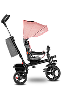 Детский трехколесный велосипед с родительской ручкой Lionelo HAARI BUBBLEGUM, Польша, Розовый