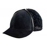 Кепка Жокей мужская замшевая черная Picador ЖСН-3-14-2, фото 1