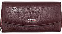 Женский кошелек кожаный бордовый Butun 609-004-002, фото 1