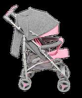 Прогулочная детская коляска Lionelo IRMA PINK, Польша, Серый с розовым