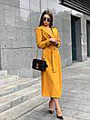 Платье - тренч ниже колена на запах из креп костюмки (р. 42, 44) 17py1599, фото 6