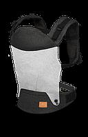 Детский слинг рюкзак-переноска до 12 Lionelo MARGAREET URBAN GREY, Польша, Серый с черным