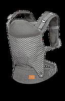Детский слинг рюкзак-переноска до 12 Lionelo MARGAREET WAVE, Польша, Серый