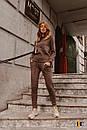 Женский вязаный костюм - двойка с асимметричной кофтой и штанами (р. S-M) 31ks1384, фото 7