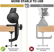 Професійний пантограф, посилена стійка до столу для важких студійних мікрофонів, фото 3