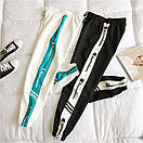 Женские спортивные штаны джоггеры на резинке с лампасами 68bu529, фото 2