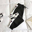 Женские спортивные штаны джоггеры на резинке с лампасами 68bu529, фото 5