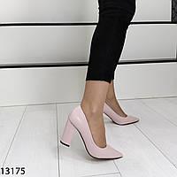 Лакированные женские туфли цвета пудра 38 размер, фото 1