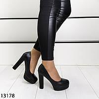 Черные женские на широком каблуке черные, фото 1