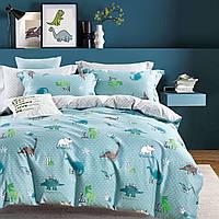 Хлопковое постельное бельё (1,5 сп) Динозавры