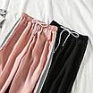 Жіночі спортивні штани джоггеры на гумці і зі шнурком (р. єдиний 42-44) 77lr531, фото 6