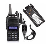 Радіостанція Baofeng UV-82 8W / Рація Баофенг ЮВ-82, 8 Ват, двоканальна (136-174 МГц / 400-520 МГц), фото 1