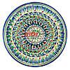 Тарелка узбекская плоская 27х3,5см, ручная роспись (вариант 7)