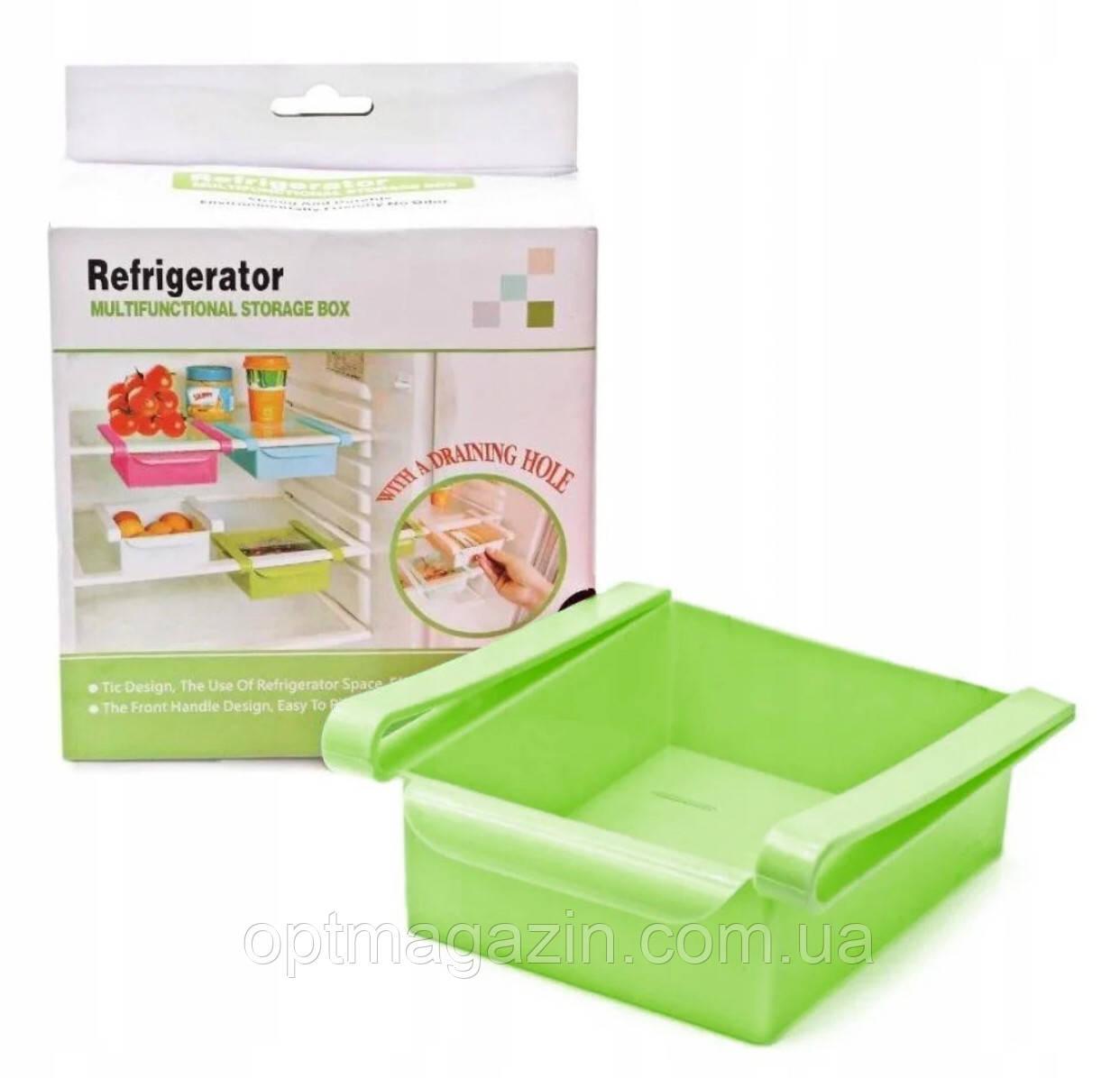 Додатковий підвісний контейнер для холодильника і вдома NBZ Refrigerator Multifunctional Storage Box Green