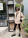 Женская демисезонная кожаная куртка со спущенным рукавом, воротником - стойкой и поясом 71kur338, фото 6