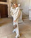 Женская кожаная куртка оверсайз в молочном цвете (р. единый 42-46) 77kur339, фото 2