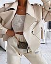 Женская кожаная куртка оверсайз в молочном цвете (р. единый 42-46) 77kur339, фото 4