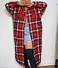 Женское длинное Женские пальто в клетку оверсайз с карманами и на подкладе р. 42-48 3mpa281