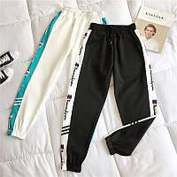 Женские спортивные штаны джоггеры на резинке с лампасами 68mbl529, фото 1