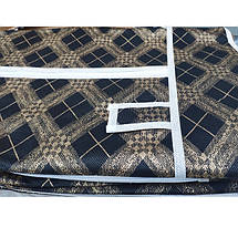 Шкаф тканевый, гардероб текстильный HCX-105 NT чёрный/золото на 2 секции, фото 3