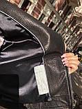 Черная куртка косуха из кожи Джамбо, фото 9