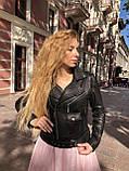 Черная куртка косуха из кожи Джамбо, фото 7