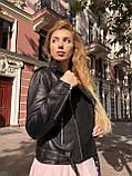 Черная куртка косуха из кожи Джамбо, фото 8