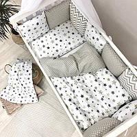 Детский постельный комплект Baby design Star grey, фото 1