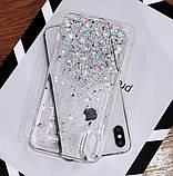 Блестящий чехол с серебряной фольгой Iphone XR, фото 2