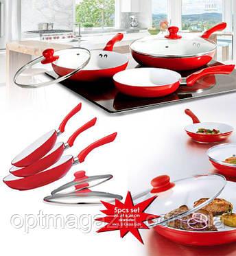 """Набор керамических сковород """"Ceramic pan"""" 3 шт, фото 2"""