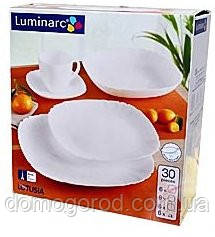 Сервиз LUMINARC LOTUSIA white Х30 предметов H3902, фото 2