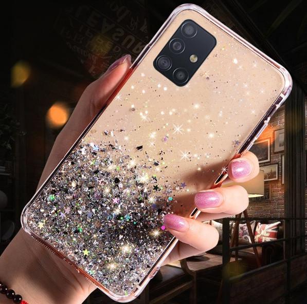 Блестящий чехол с серебряной фольгой Samsung Galaxy A71 /A715F