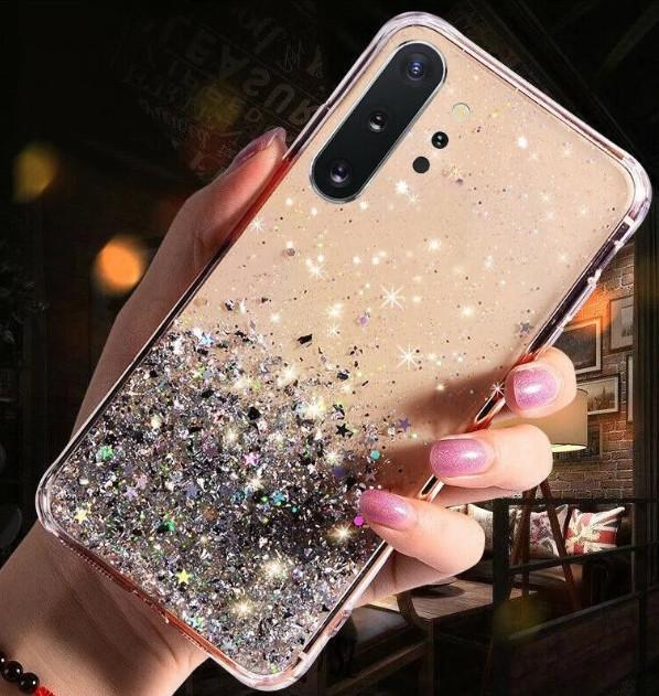 Блискучий чохол з срібною фольгою Samsung Galaxy A70/A705